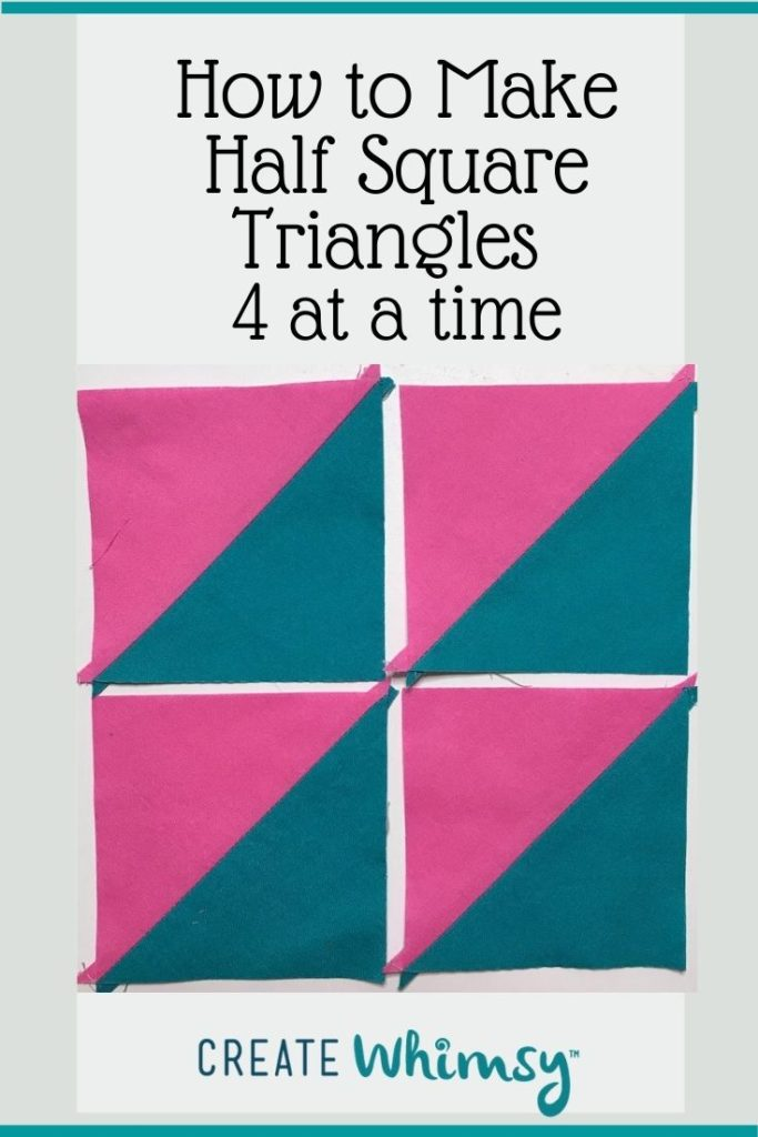 Half Square Triangles Four at a Time PI 1
