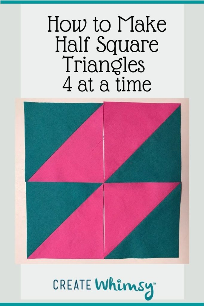 Half Square Triangles Four at a Time PI 3