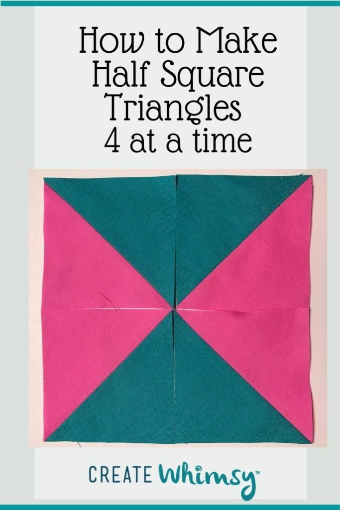 Half Square Triangles Four at a Time PI 4