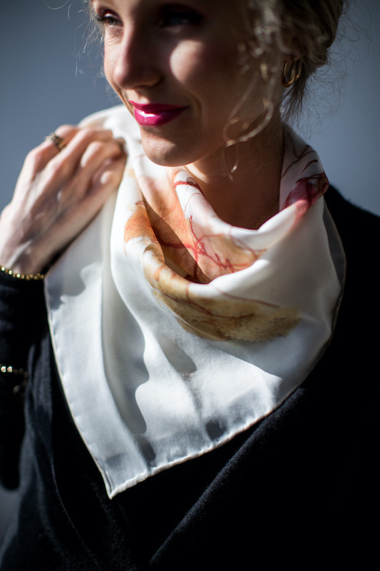 Allish's scarf with peach