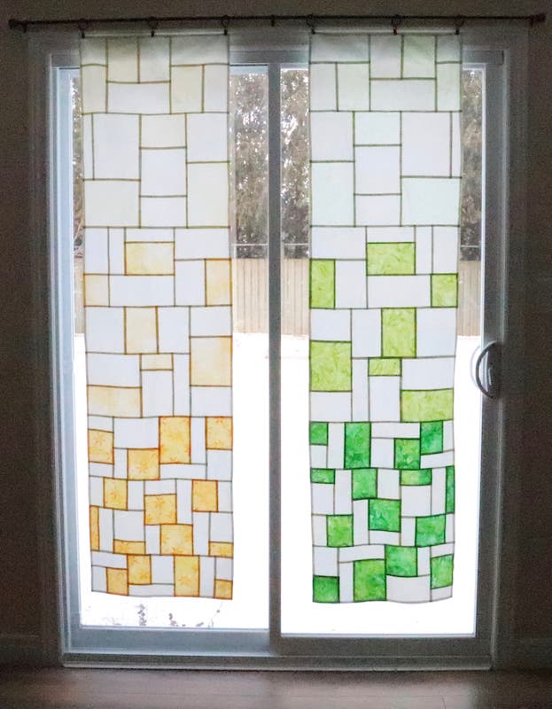 Set of two gradient pojagi panels