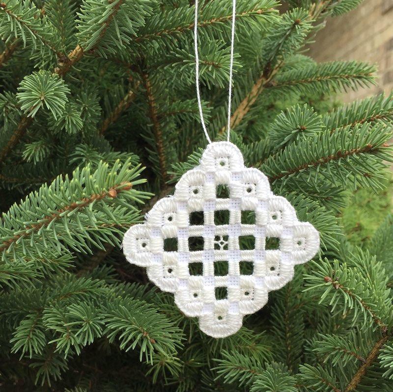 Hardanger tree ornament