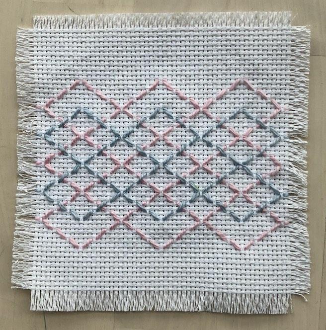 Huck weaving coasters