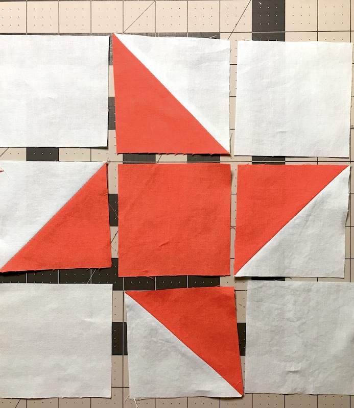 Here is how to layout your friendship star quilt block