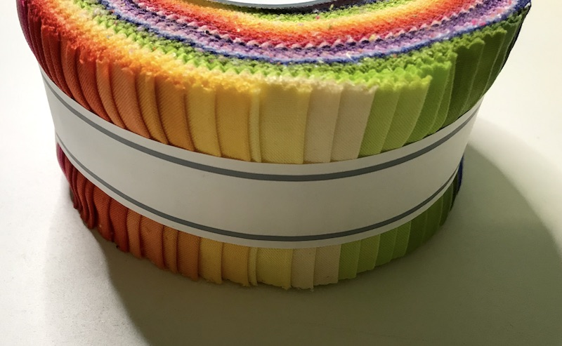 jelly roll of solid brights