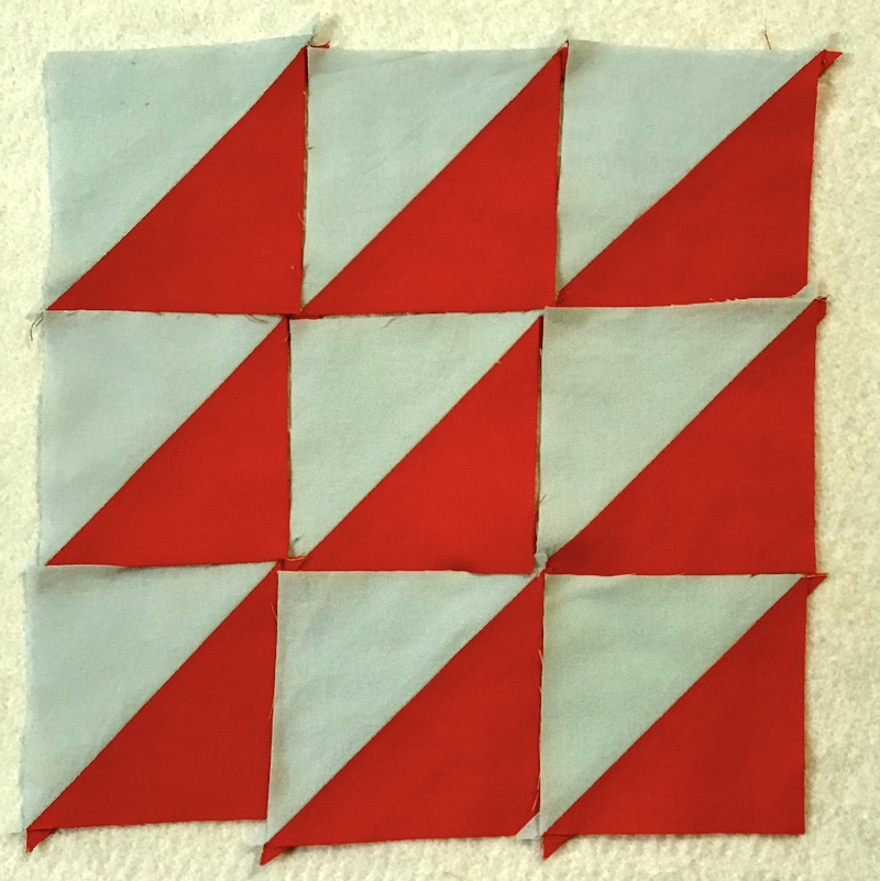 Half square triangles suggested layout