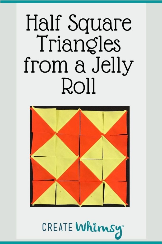 Half square triangles from a jelly roll 1