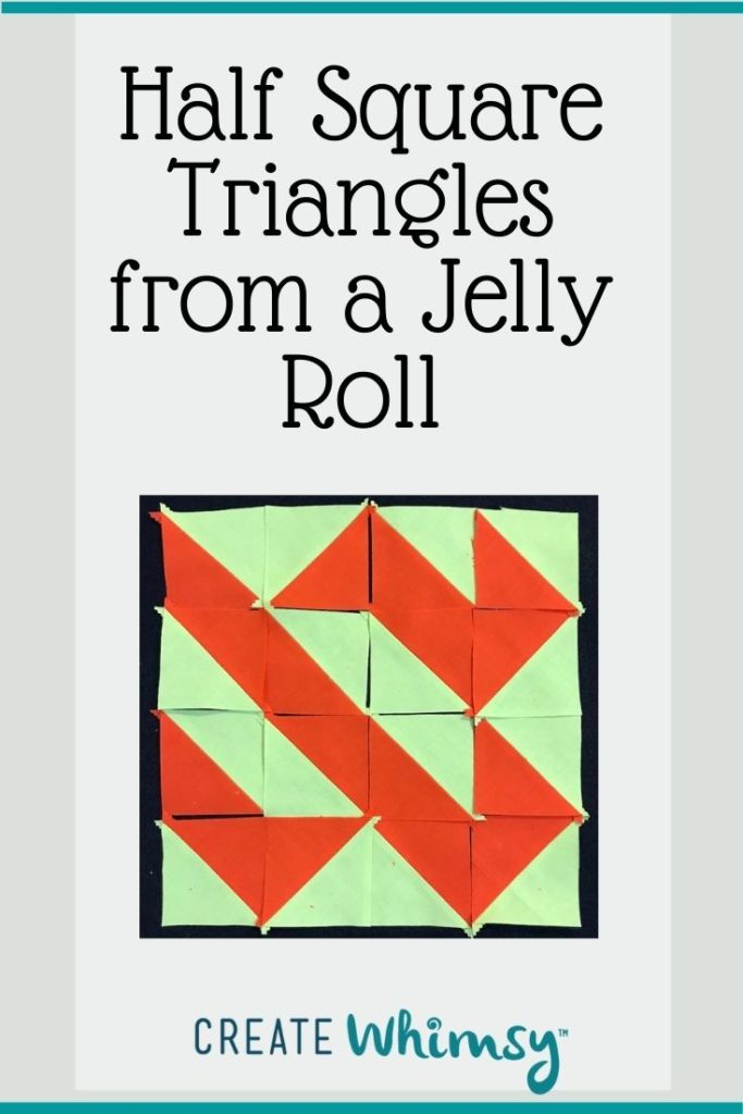 Half square triangles from a jelly roll 2