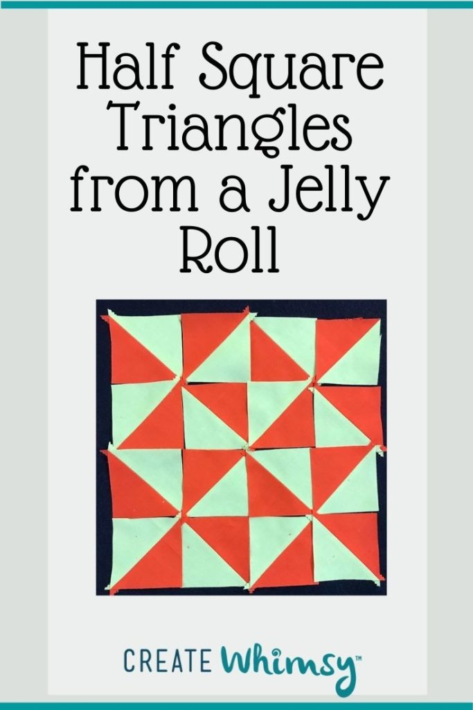 Half square triangles from a jelly roll 3