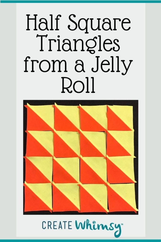 Half square triangles from a jelly roll 4