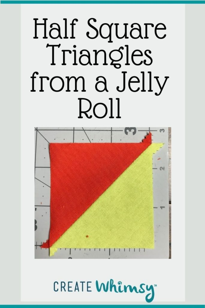 Half square triangles from a jelly roll 6