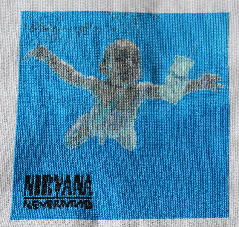 Nirvana Cover Cross Stitch