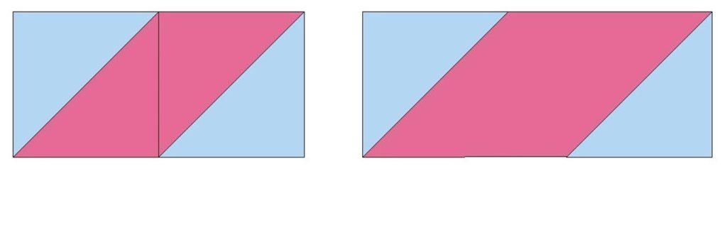 Half square triangles vs. diamonds