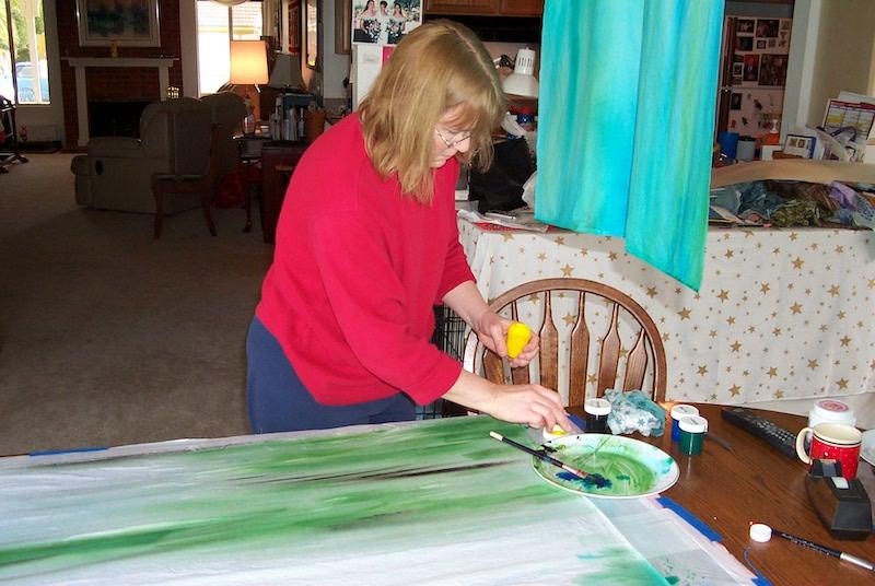 Jan dye painting cloth
