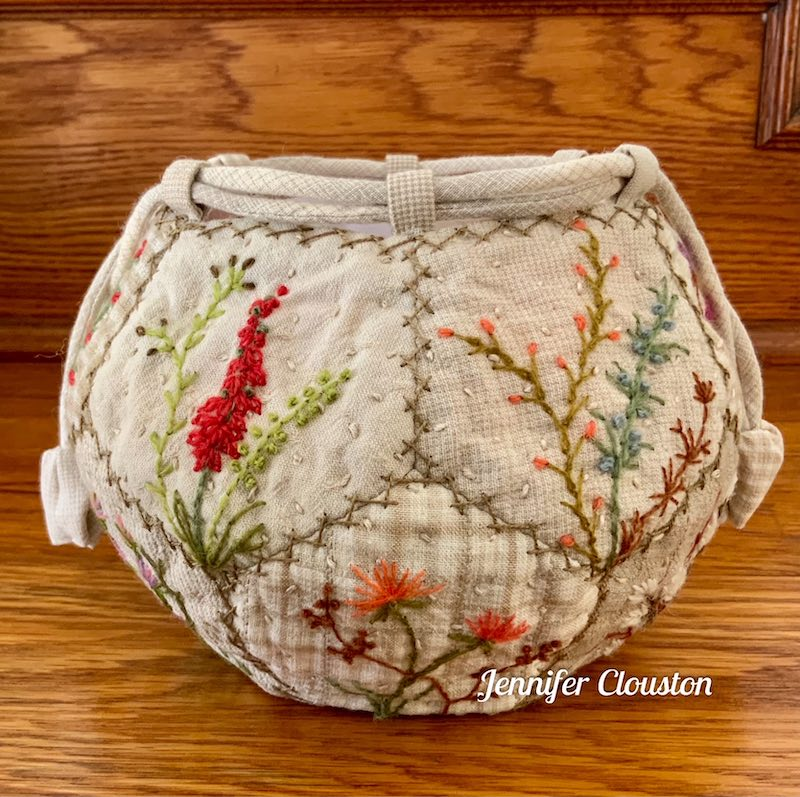 EPP embroidered bag open