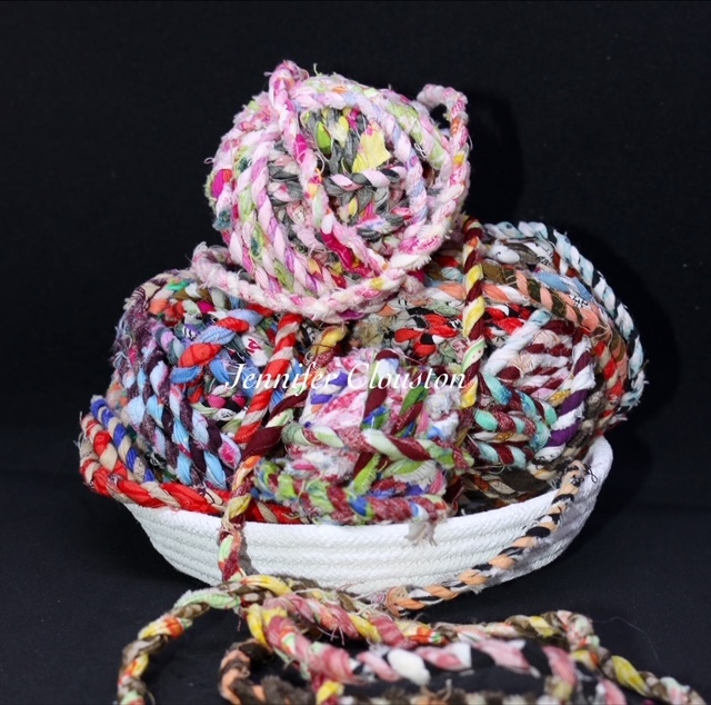 Fabric twine rolls and bowl