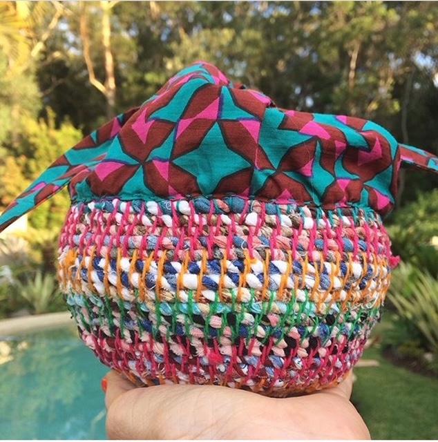 Fabric twine bowl