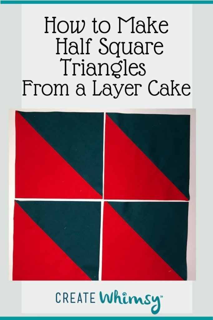 Layer Cake Half Square Triangles PI 4
