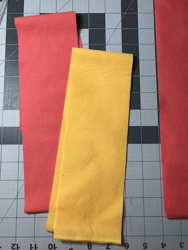 Cutting strips for nine patch quilt block