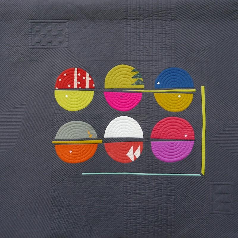 Macaroons quilt by Sarah Hibbert