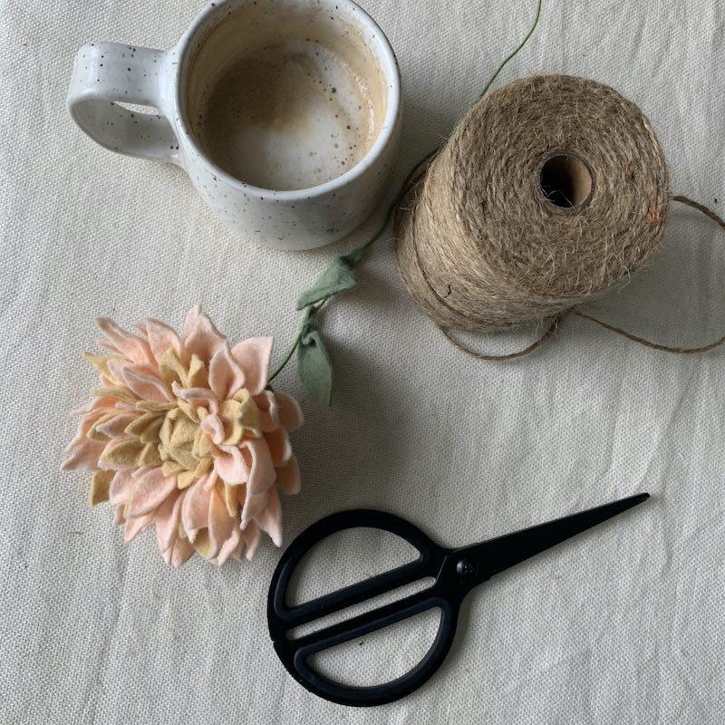 Making a felt flower