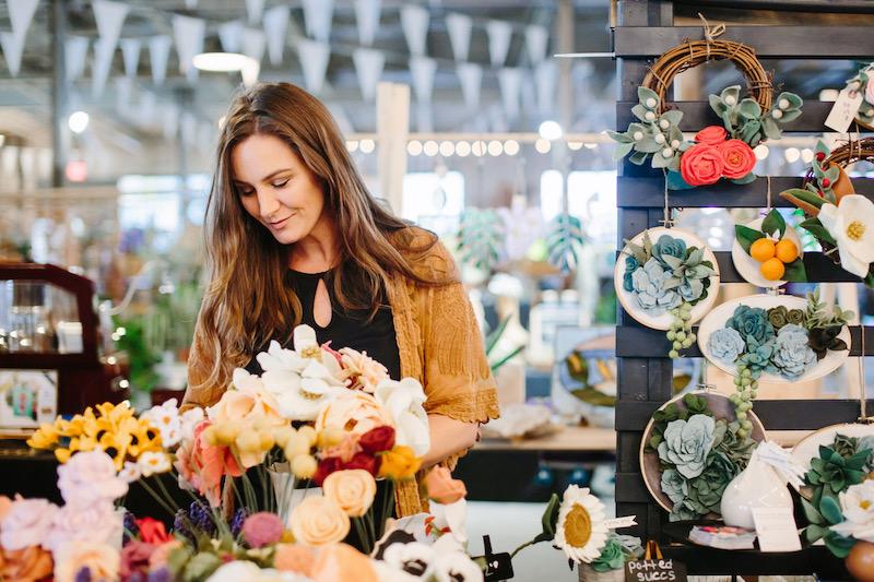 Bryanne at market