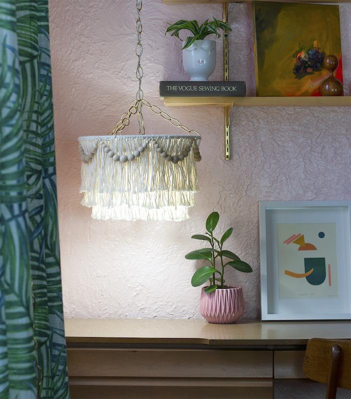 Macrame chandelier