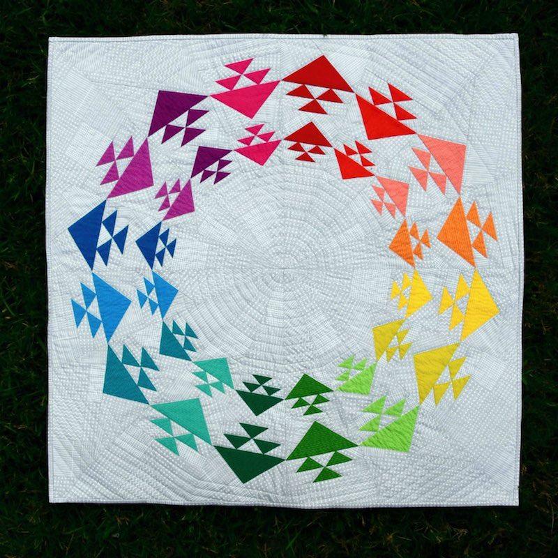 Taste the Rainbow quilt by Cheryl Brickey