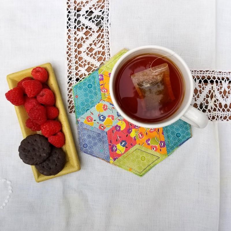 Make an EPP Mug Rug - EPP Mug Rug with Snack 2