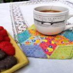 Make an EPP Mug Rug - EPP Mug Rug with Snack 4