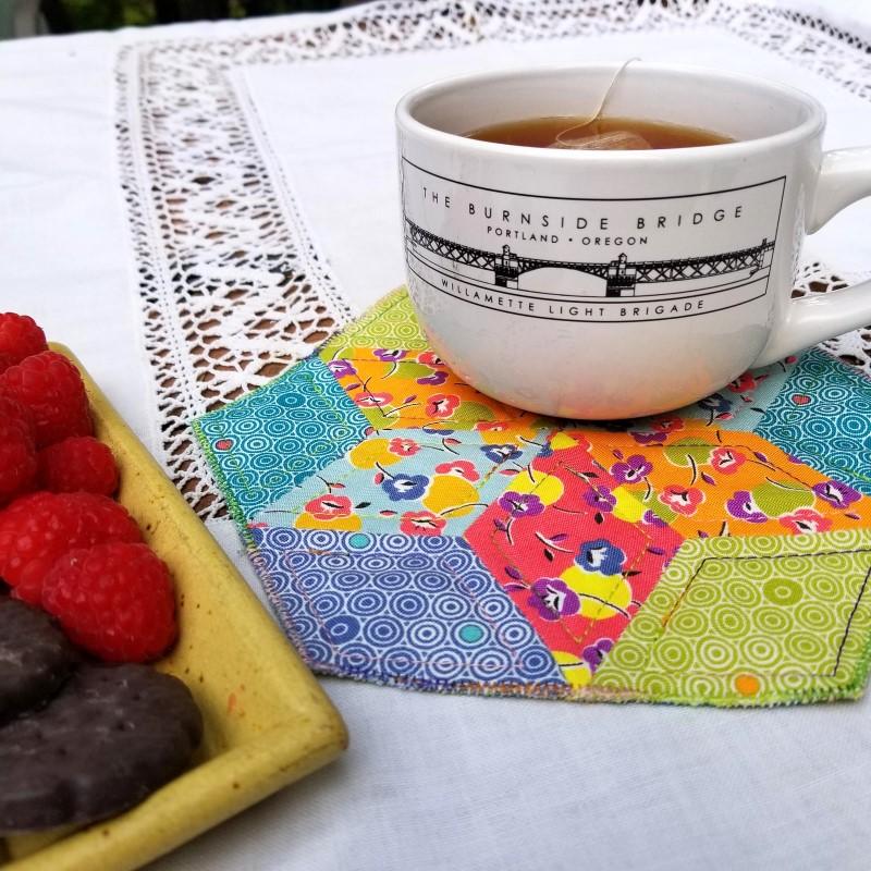 Make an English Paper Pieced Mug Rug