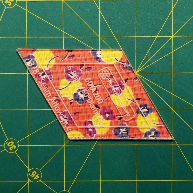 Make an EPP Mug Rug - Cut Fabric from Template