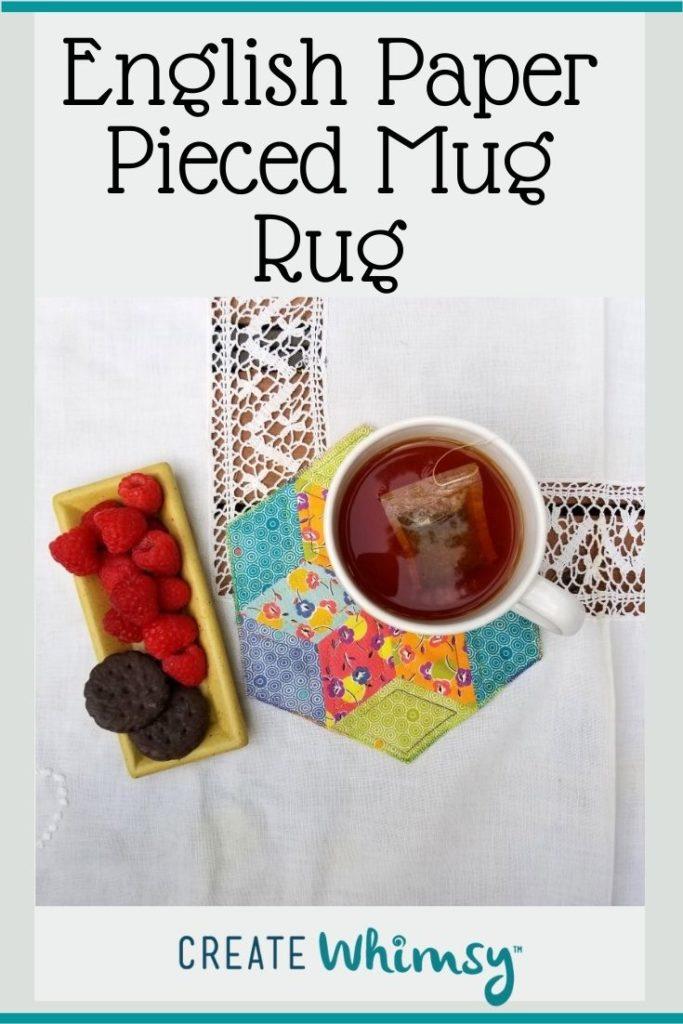 English Paper Pieced Mug Rug Pinterest Image 2