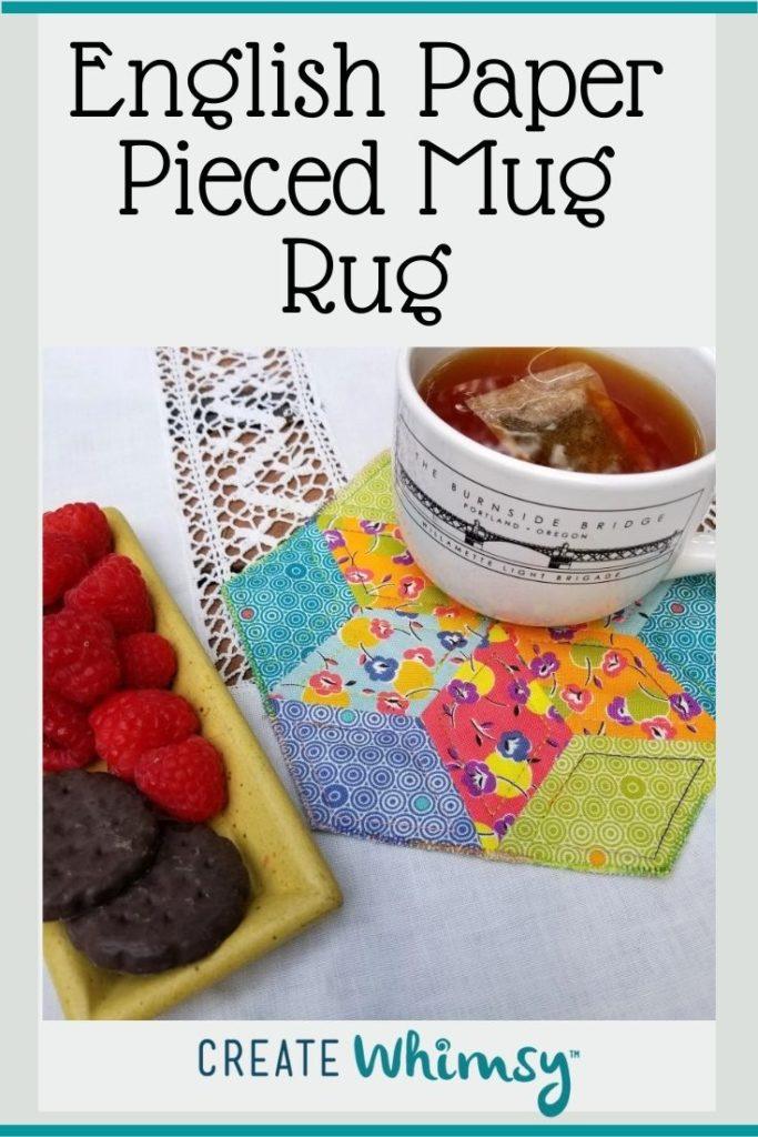 English Paper Pieced Mug Rug Pinterest Image 3
