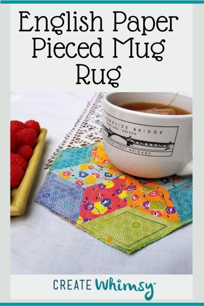 English Paper Pieced Mug Rug Pinterest Image 4