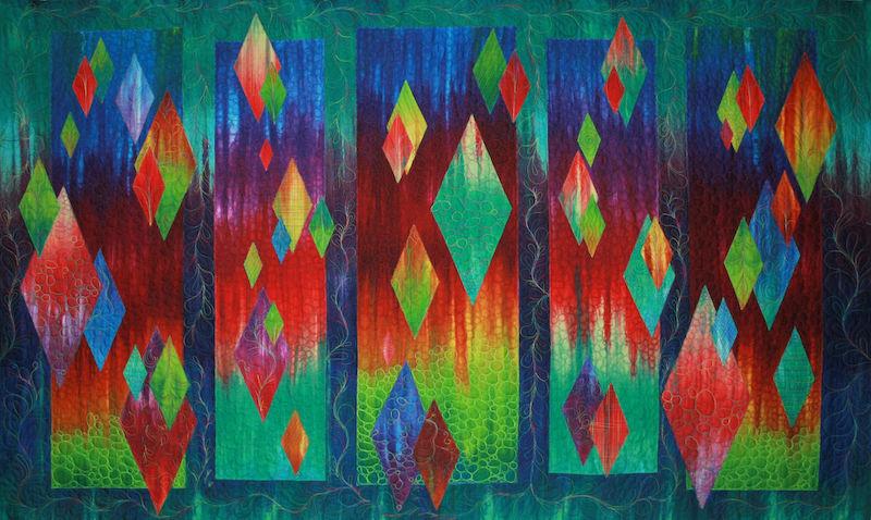 Aurora quilt by Jan Krentz