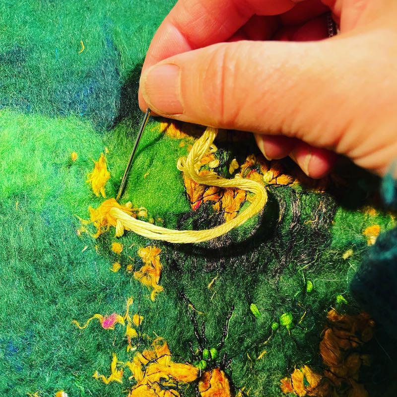 Moy hand stitching