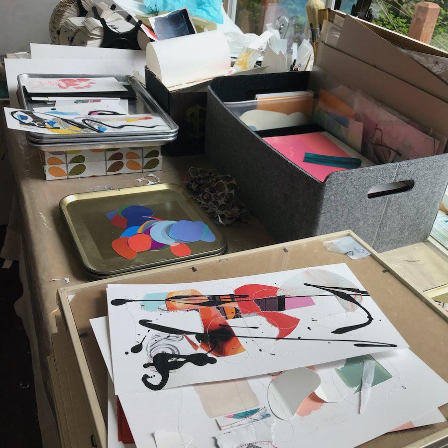 Andrea's studio table