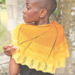 Sunshine knitted scarf