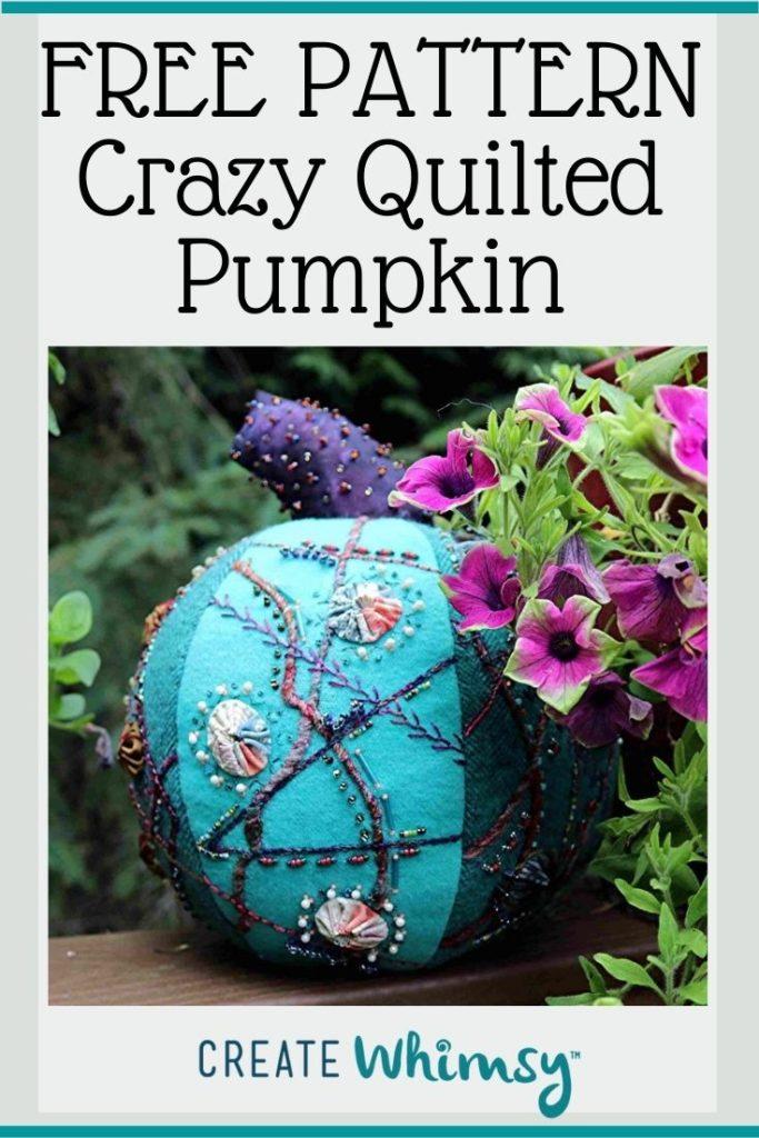 Crazy Quilted Pumpkin Pinterest Image 1