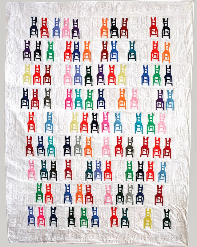 Sit in Front quilt by Frances Dowell