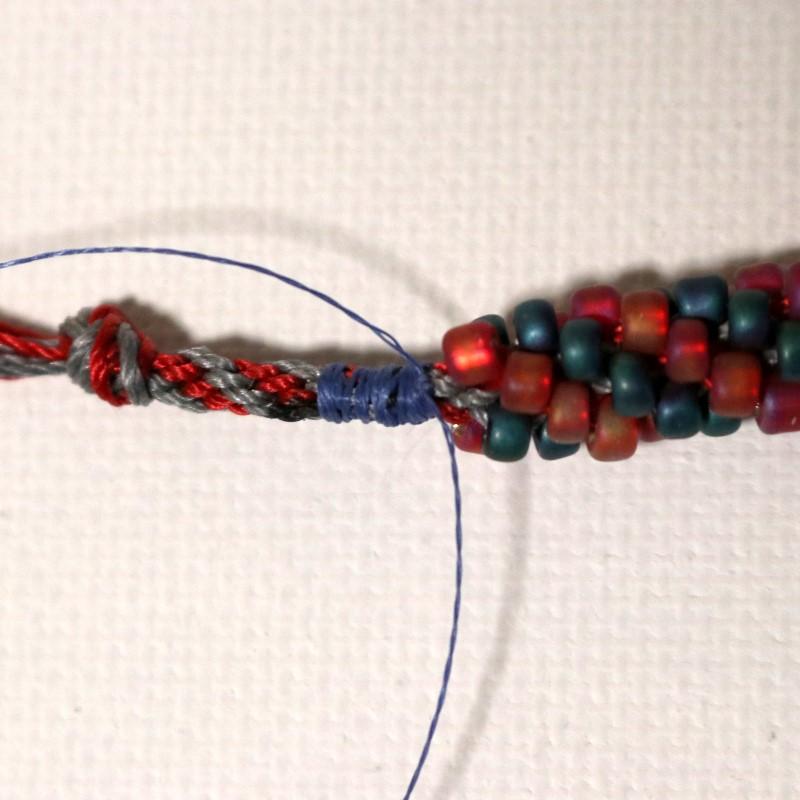 Make Kumihimo Bracelet Wrap and Secure