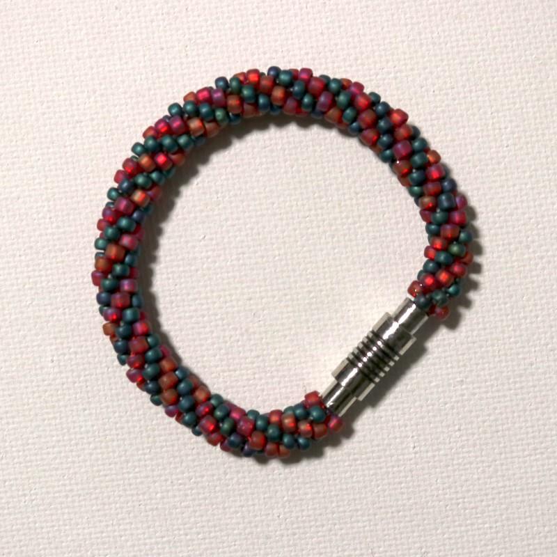 Make Kumihimo Bracelet Finished