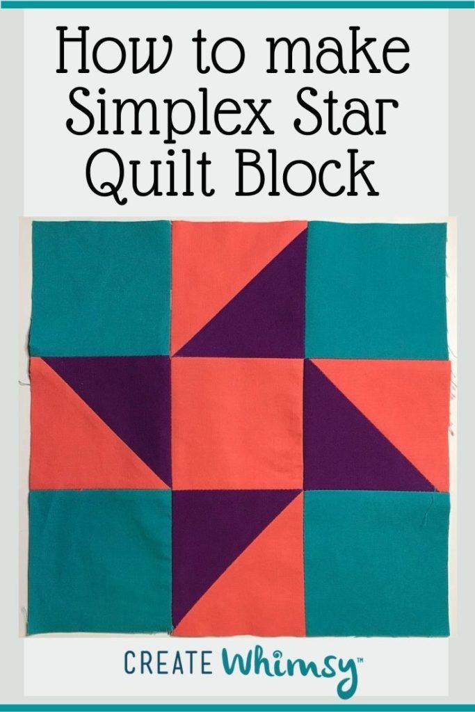 Simplex Star Quilt Block PI 1