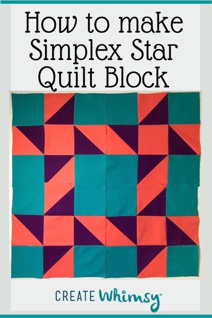 Simplex Star Quilt Block PI 2