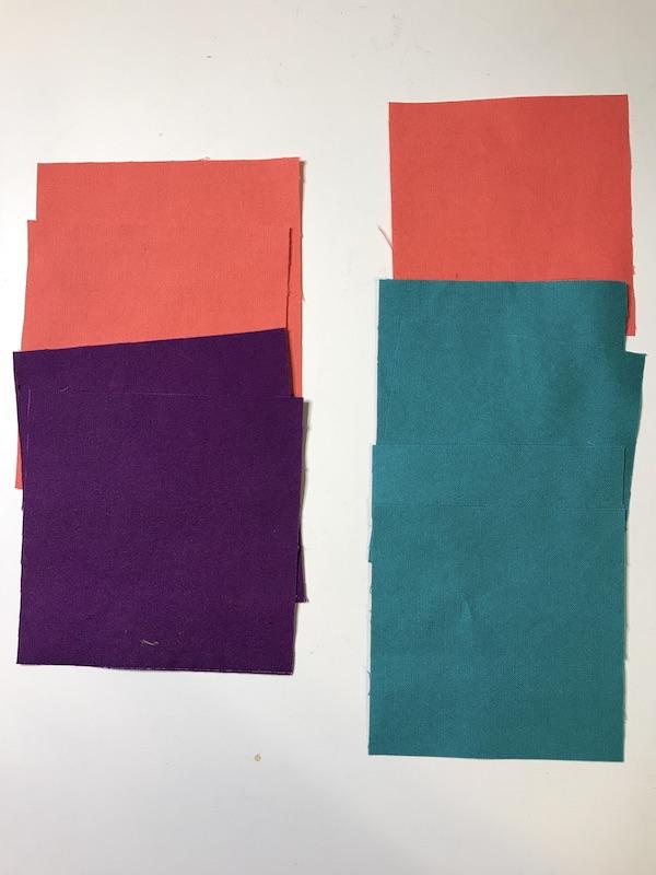 Simplex Star fabric cut to make the block