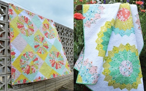 Dresdan plate quilt and close up