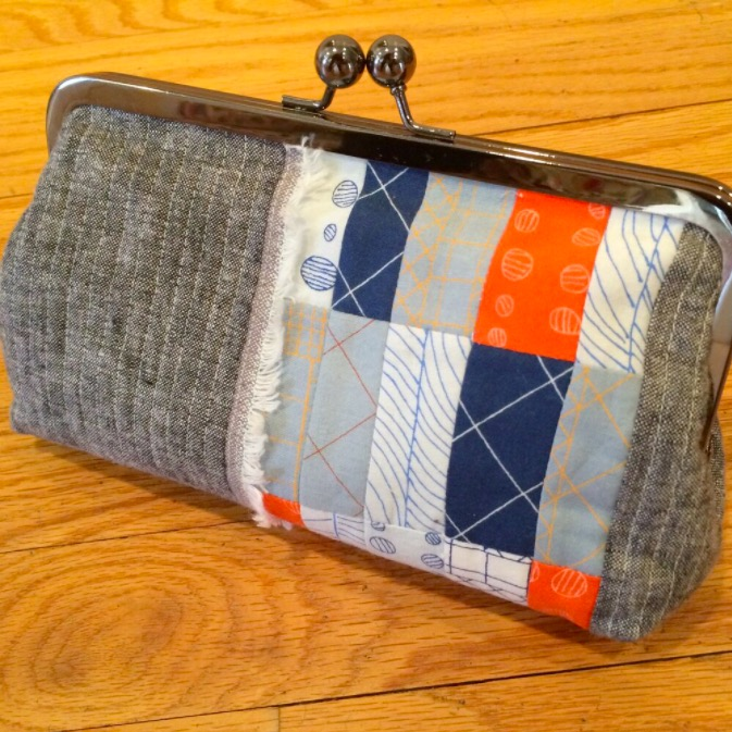 Patchwork clutch by Lee Chappell Monroe