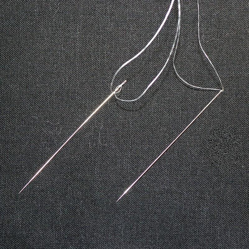 Looking Glass Bracelet Thread on 2 Needles