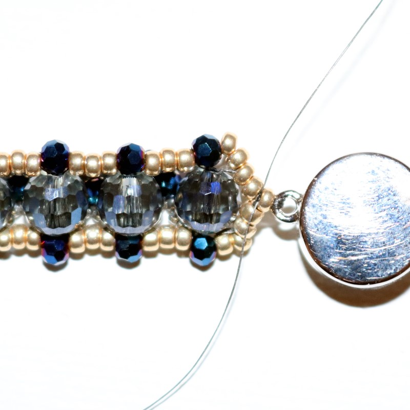 Looking Glass Bracelet repeat on other side then tie square knot
